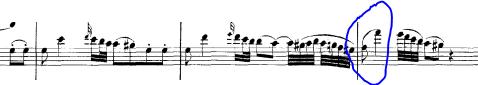 Mozart Concerto in G Legato example
