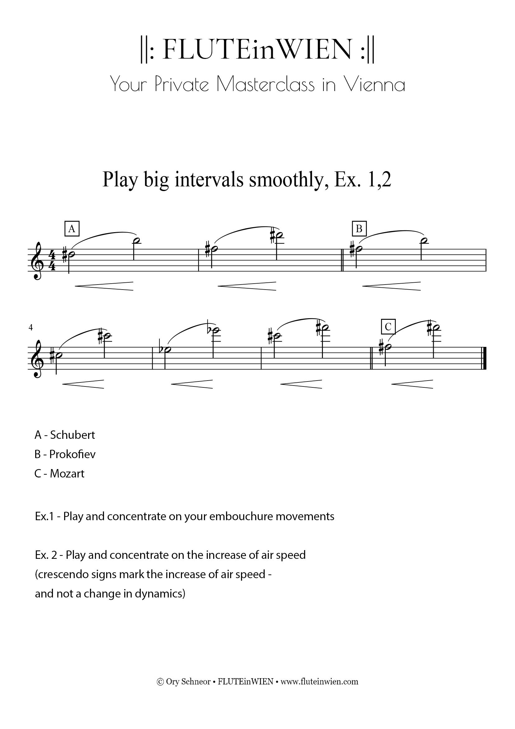 How to play intervals smoothly ,Ex.1-2