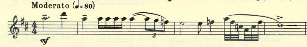 Prokofiev Flute Sonata Opening