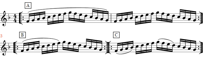 Example of a Legato-Staccato exercise