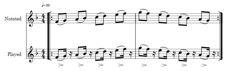 Baroque articulation scale