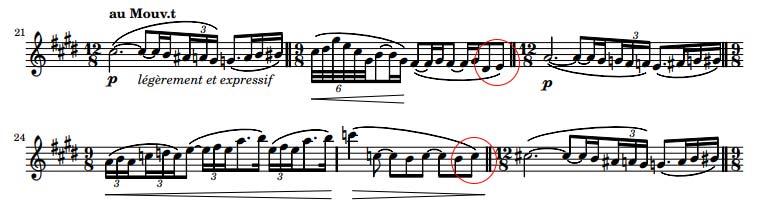 Debussy Prelude a l'apres-midi d'un faune marked excerpt