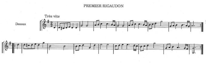 Rameau Premier Rigaudon