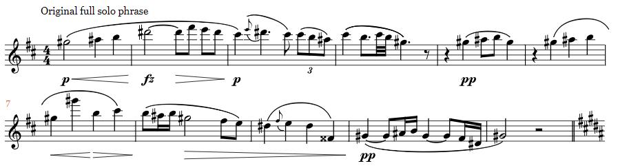 Dvorak Cello Concerto flute solo