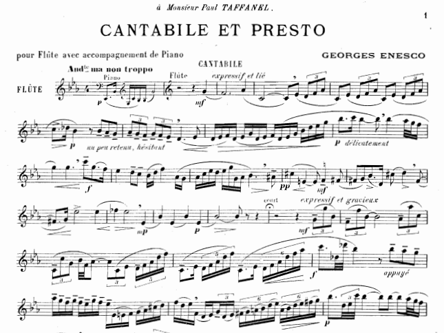 Enesco Cantabile et Presto – Practical Guide